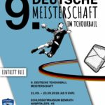Das Plakat zur Tchoukball-DM 2018 in Düsseldorf.