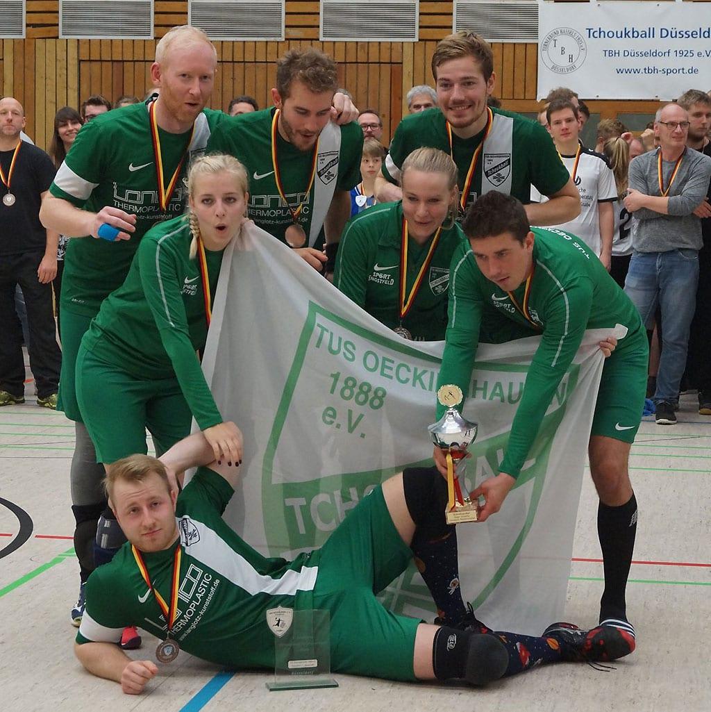 Deutscher Tchoukball-Meister 2018: TuS Oeckinghausen I. (Foto: TBH Düsseldorf)