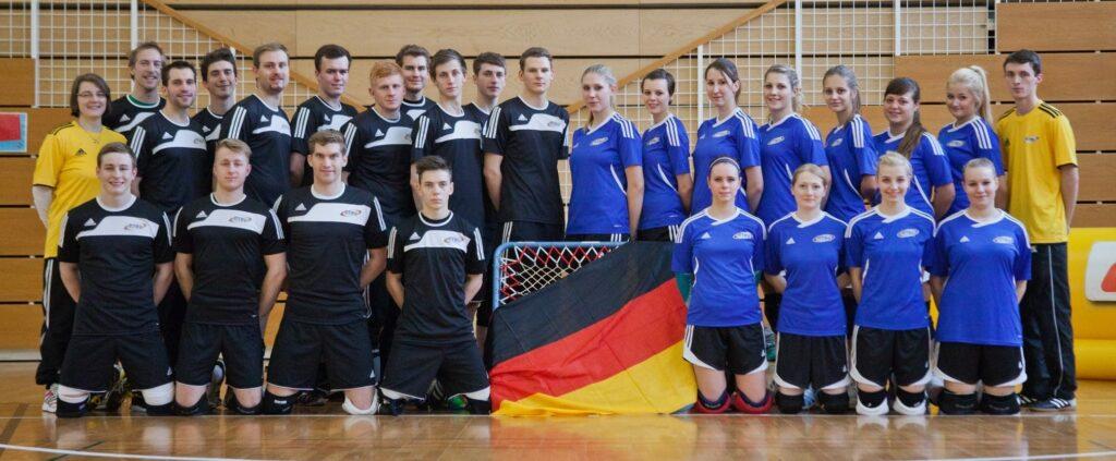 Der deutsche Nationalkader bei den Geneva Indoors 2013.