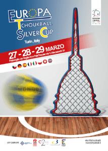 Plakat für den Europa Tchoukball Silver Cup 2015