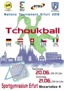 Das Plakat zum Nations Tournament Erfurt 2015
