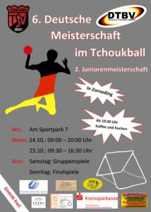 Das Plakat zur Deutschen Tchoukball-Meisterschaft 2015.