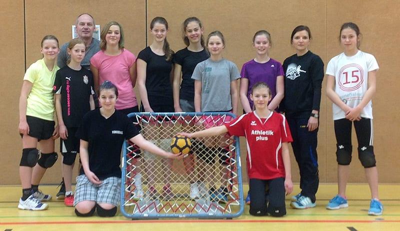 Die Mädchen der deutschen M15-Auswahl für die Tchoukball-EM 2016