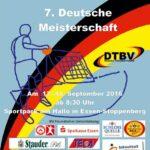 Das Plakat zur Tchoukball-DM 2016 in Essen.