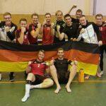 Große Freude im Deutschen Team nach dem Sieg gegen die Schweiz. (Foto: Joachim Fromm)