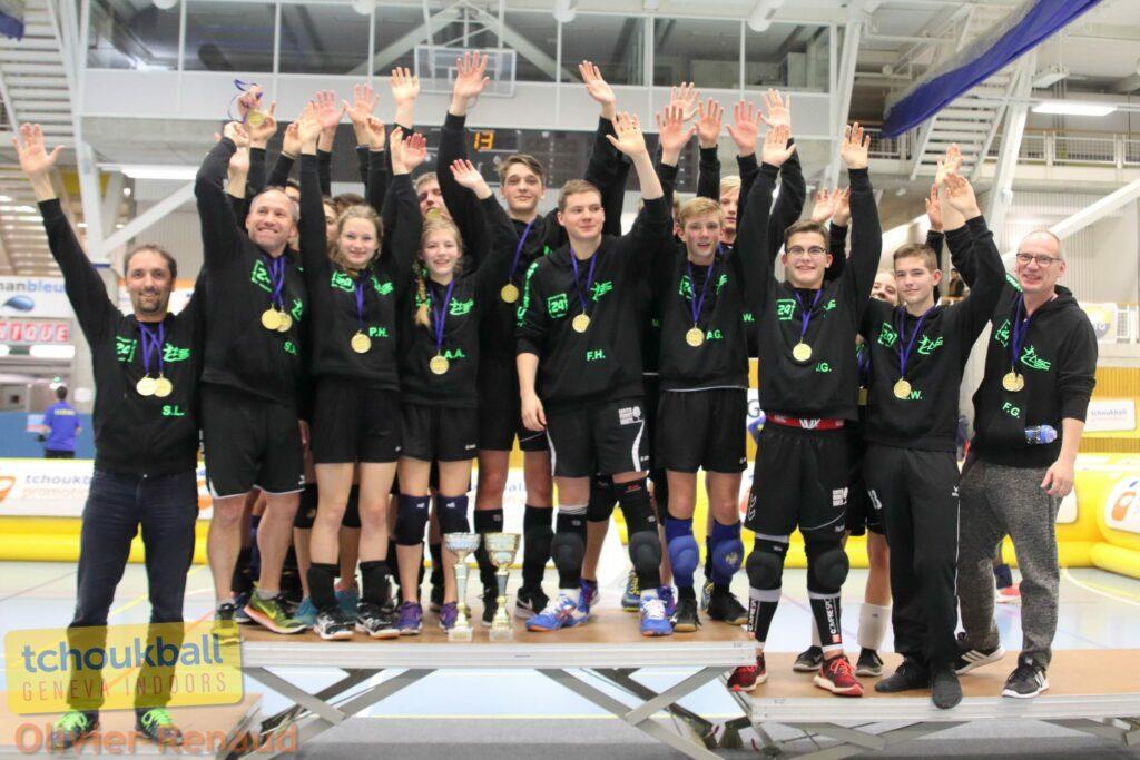 Die Erfolgreichen Juniorenteams des ASC Weimar (Foto: Olivier Renaud)
