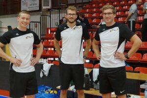 Das Trainerteam der M18 (von links): Frederik Berbecker, Julian Clever und Felix Kühn. (Foto: Sylvia Zoch)