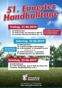 Plakat der Ennester Handballtage 2019