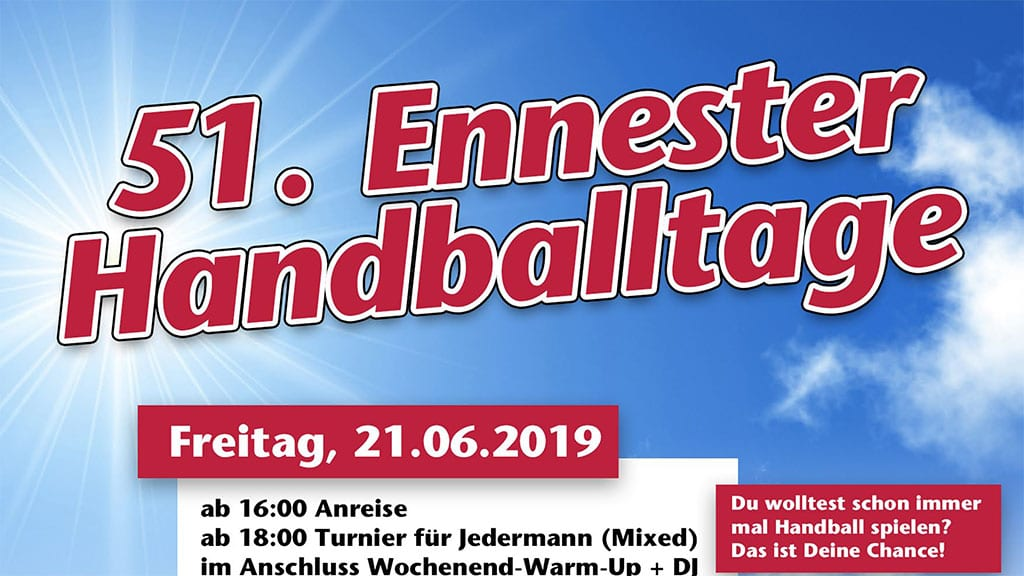 Plakat Ennester Handballtage 2019