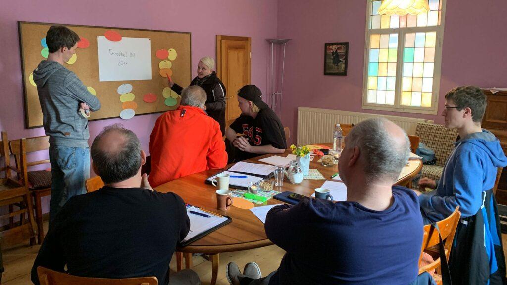 Angeregte Diskussionen beim Workshop zur DM 20xx. (Foto: Janine Pohlenz-Anhalt)